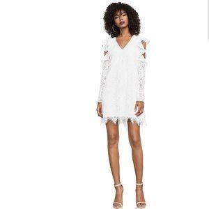 BCBG Cold Shoulder Shift Dress